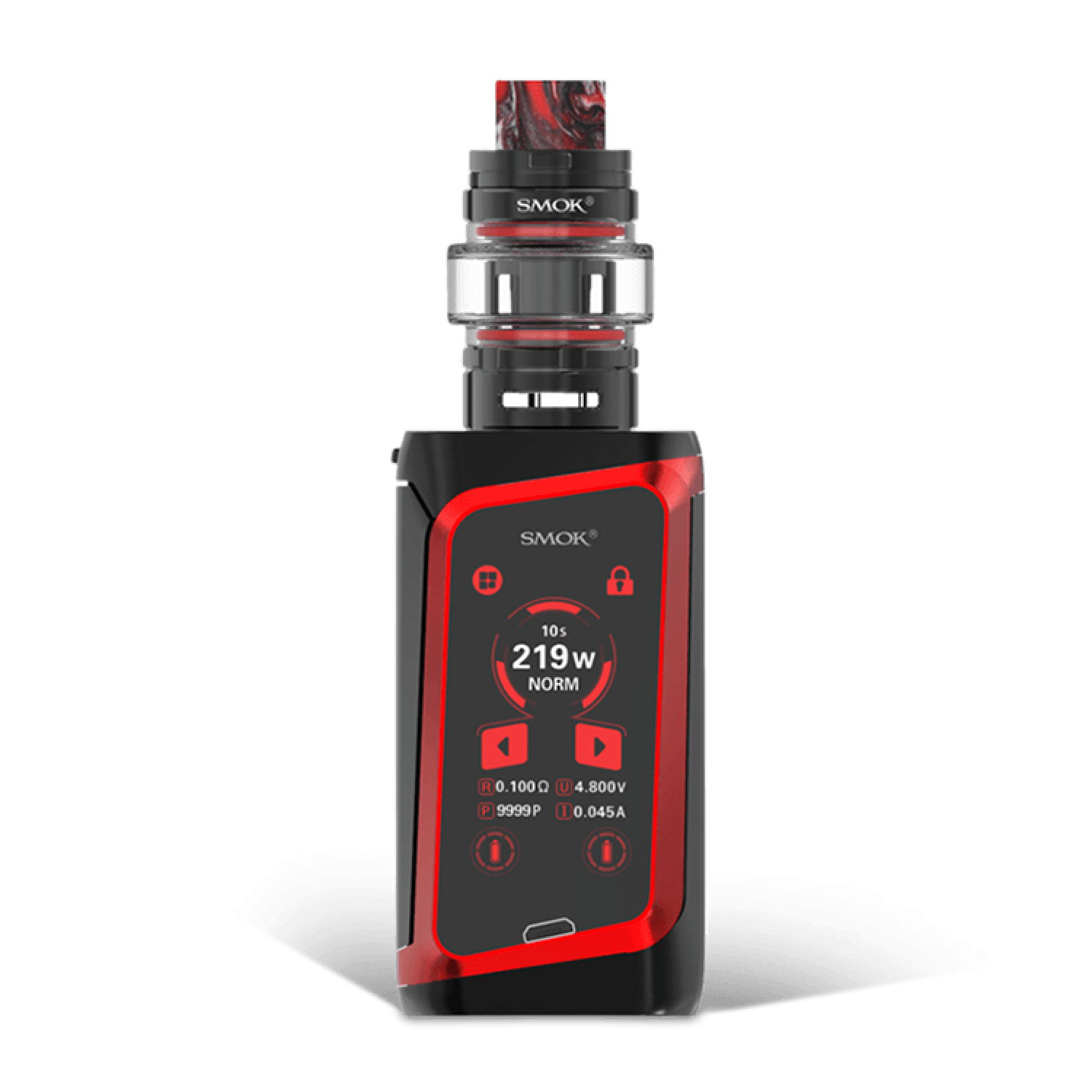 smok morph 219 kit black red 1